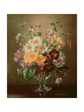 Primulas in a Glass Vase Reproduction procédé giclée par Albert Williams