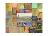 Cevennes Mosaic Giclee Print by Michael Chase