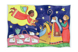 Annunciation to the Shepherds Giclee Print by Cathy Baxter