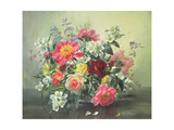 Flowers of Romantic June Reproduction procédé giclée par Albert Williams