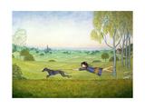 Walking the Dog Giclee-trykk av  Ditz