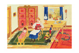 Mother with Children Reproduction procédé giclée par  Ditz