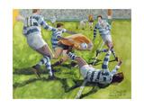 Rugby Match: Australia v Argentina in the World Cup, 1991 Giclee-trykk av Gareth Lloyd Ball