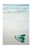 Gym Shoes on Beach Giclee Print by Lincoln Seligman