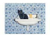 My Bathroom Cat Reproduction procédé giclée par  Ditz