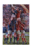 Rugby International, Wales V Scotland Giclée-Druck von Gareth Lloyd Ball
