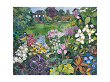 The Garden with Birds and Butterflies Giclee Print by Hilary Jones