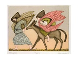 Flight into Egypt I, 1979 Giclee Print by Gillian Lawson