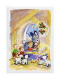 Away in a Manger, 1996 Giclee Print by Diane Matthes