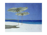Umbrellas, Greece, 1995 Lámina giclée por Lincoln Seligman