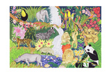 Jungle Animals Lámina giclée por Tony Todd