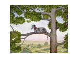 The Tree Whippet Giclee-trykk av  Ditz