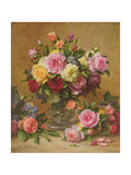 A Cluster of Victorian Roses Reproduction procédé giclée par Albert Williams