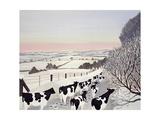 Friesians in Winter Giclée-Druck von Maggie Rowe