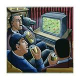 Armchair Supporters Giclee-trykk av P.J. Crook