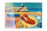 Lobster Giclee Print by Sara Hayward