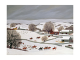 Riding in the Snow Reproduction procédé giclée par Vincent Haddelsey