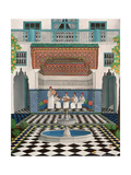 A Riad in Marrakech, 1992 Giclee Print by Larry Smart