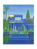 Majorelle Gardens, Marrakech, 1996 Giclée-tryk af Larry Smart