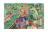 Procession, Peliatan, Bali, 1996 Giclee Print by Hilary Simon