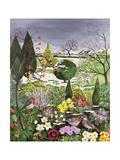 Winter from the Four Seasons (One of a Set of Four) Giclee-trykk av Hilary Jones