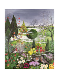 Winter from the Four Seasons (One of a Set of Four) Giclee Print by Hilary Jones