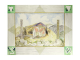 Temple in Hosios Lukas Country from the Greek Experience Series, 1989 Giclee Print by Michael Chase