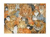 Semi Wild Cat Spread Giclee-trykk av  Ditz