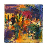 Cafe De La Place, St Paul De Vence Giclee-trykk av Peter Graham