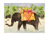 Elephants with Bananas, 1998 Giclee Print by E.B. Watts