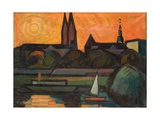 The River Tisza at Szeged, 1965 Giclee Print by Emil Parrag