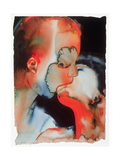 Close-Up Kiss, 1988 Reproduction procédé giclée par Graham Dean