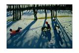 Boys Sledging, Allestree Park, Derby Impressão giclée por Andrew Macara