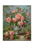 English Elegance Roses in a Silver Vase Reproduction procédé giclée par Albert Williams