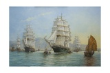 Thermopylae and Cutty Sark Leaving Foochow in 1872, 2008 Giclee-trykk av John Sutton