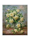 Princess Diana Roses in a Cut Glass Vase Reproduction procédé giclée par Albert Williams