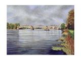 Barnes Railway Bridge, 1995 Giclee Print by Isabel Hutchison