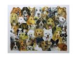 Dog Friends Giclee Print by Pat Scott