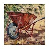 Rusty Wheelbarrow, 2009 Reproduction procédé giclée par Tilly Willis