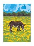 Donkey and Buttercup Field, 2009 Giclée-Druck von Sarah Gillard