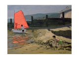 Red Sail, Isle of Wight Giclee Print by Andrew Macara