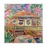 Lotus Cafe, Ubud, Bali, 2002 Giclee Print by Hilary Simon