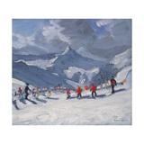 Ski School, Tignes, 2009 Lámina giclée por Andrew Macara