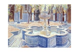 The Blue Fountain, 2000 Giclée-tryk af Lucy Willis