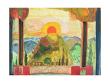 Sundown over Abruzzi, C.1980-89 Giclee Print by Michael Chase