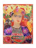 Respects to Frida Kahlo, 2002 Giclée-tryk af Hilary Simon