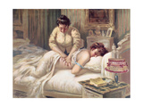A Massage Session Giclee Print by Albert Guillaume
