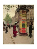 Paris Kiosk, Early 1880s Reproduction procédé giclée par Jean Béraud