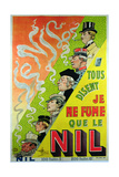 Poster Advertising the Cigarette Brand, Le Nil Giclee Print by Albert Guillaume