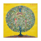 Adam and Eve (Tree of Life), 2002 Giclee Print by Tamas Galambos